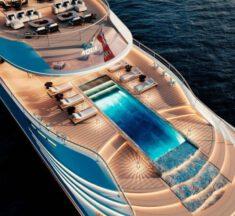 Jacht napędzany ciekłym wodorem